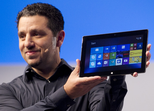 Panos Panay, corporate vice president of Microsoft, introduces a new Surface tablet, Monday, Sept. 23, 2013 in New York