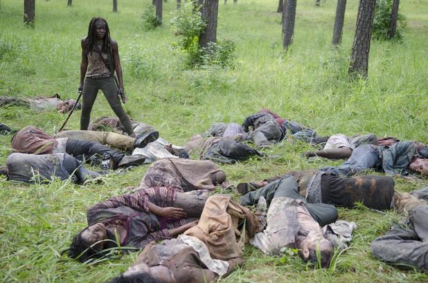 Danai Gurira as Michonne in The Walking Dead Season 4 Episode 9: 'After'