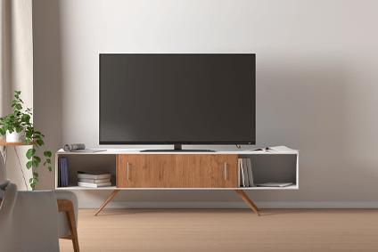 meuble tv pivotant cdiscount maison