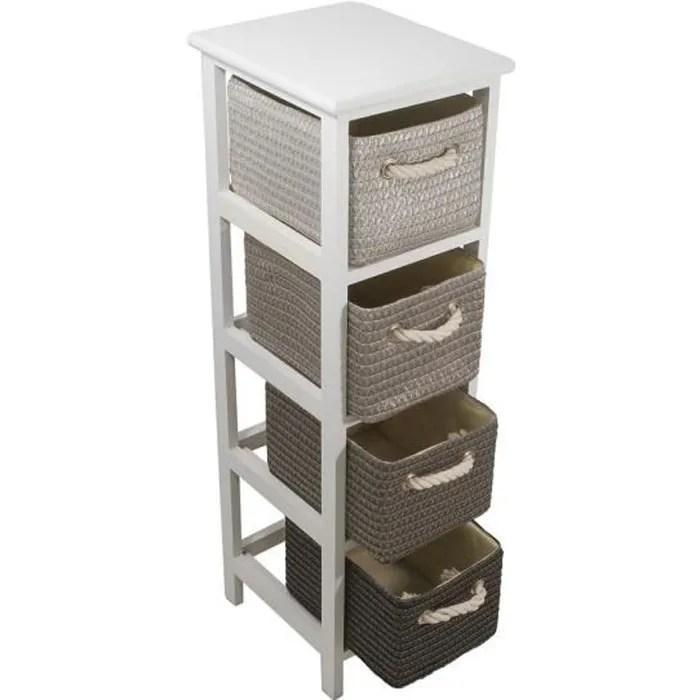 meuble bas commode sdb victoria colonne de salle de bain l 25 cm 4 pani