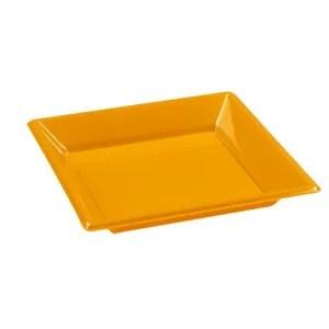 assiette jetable assiette carre 18cm mandarine