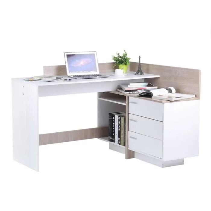 table bureau de travail assemble en forme de l coin ordinateur pc