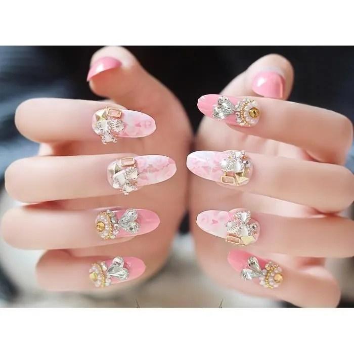 Le Luxe Promise De Faux Ongles 24 Morceaux De Pink Ongle