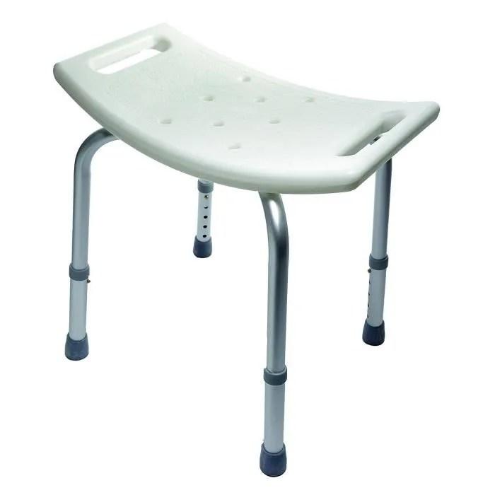 tabouret de bain rectangulaire aluminium novolife assise reglable en hauteur de 35 a 46 cm achat vente assise bain douche tabouret de bain