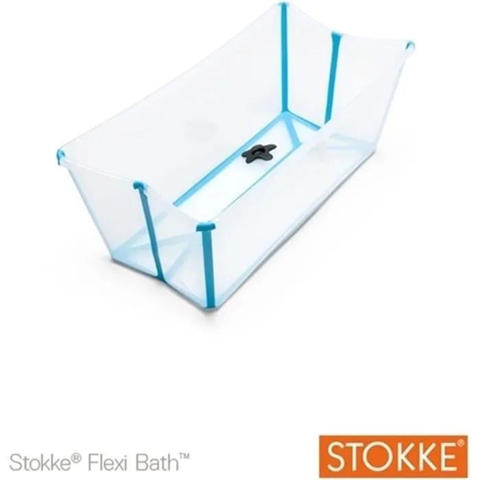 stokke baignoire pliable flexi bath transparent