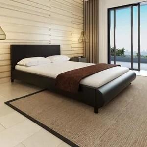 structure de lit lit grand cadre de lit moderne 140 x 200 cm cuir a