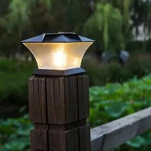 lampe de jardin led solaire lampe pilier jardin colonne exterieur
