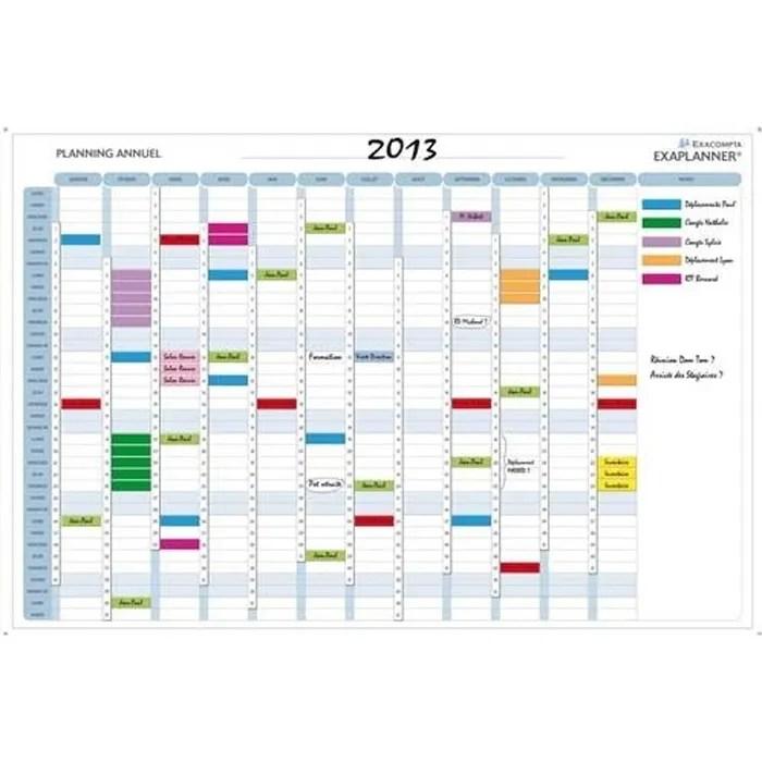 Exacompta Planning Annuel Magntique 56150E Achat