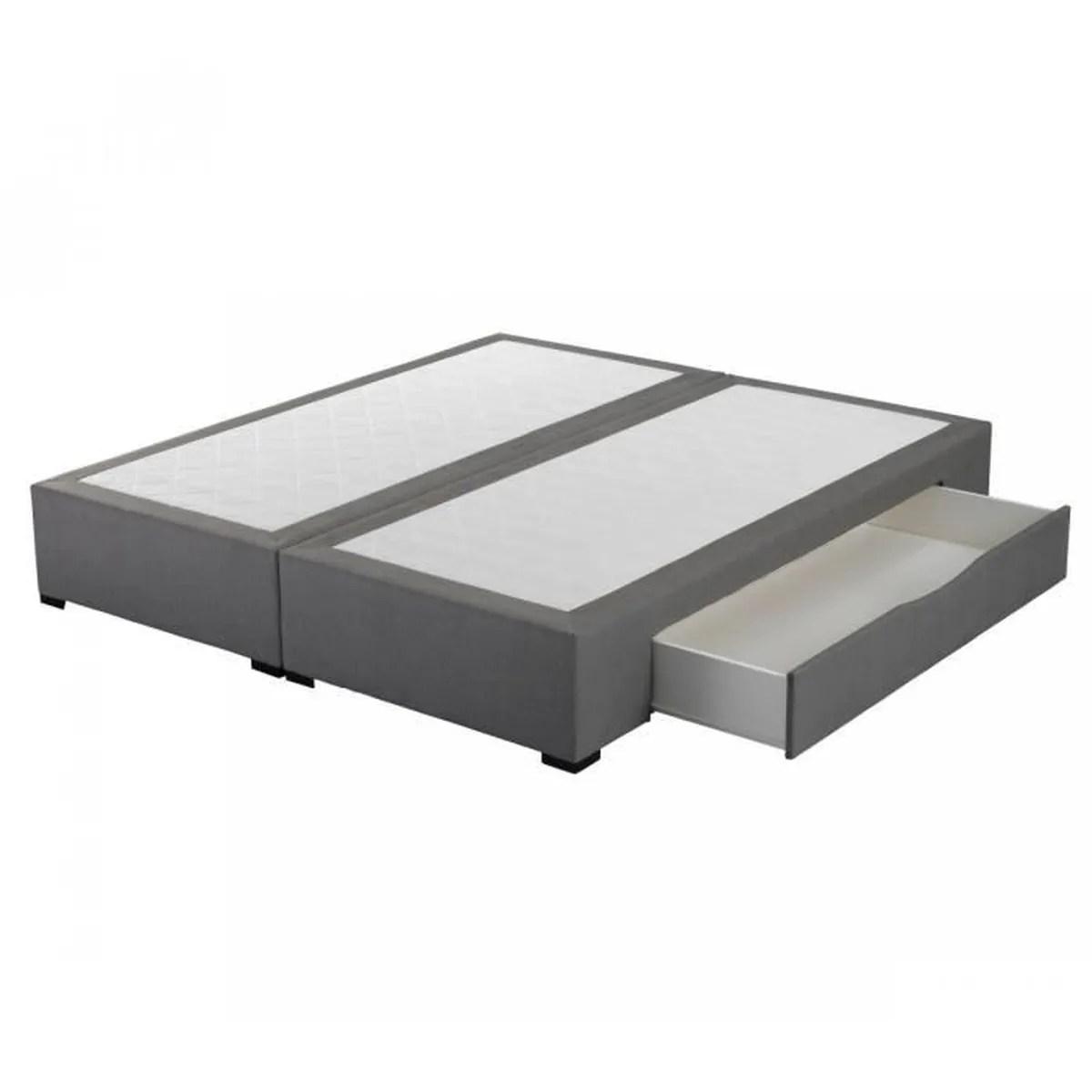 sommier tiroirs astoria gris crown bedding 2x90x200