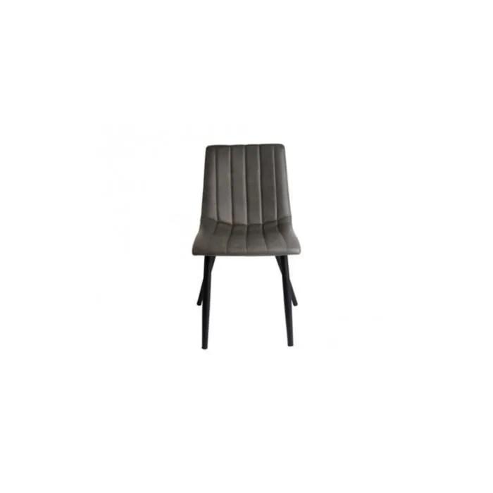 chaise chaise cuir gris capitonnee vintage