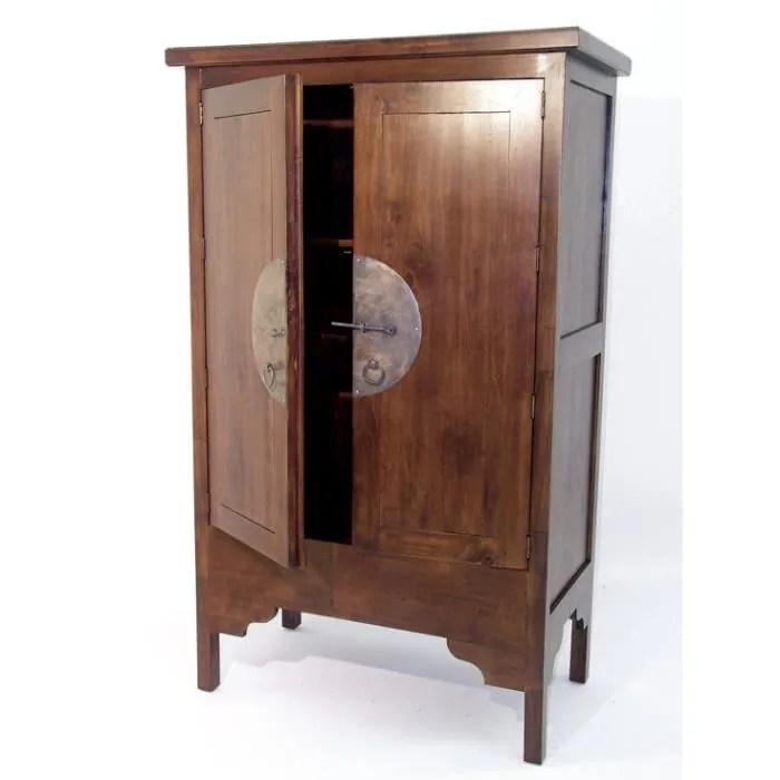 colonial armoire chine 2 etageres hmong chene moyen