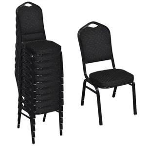 chaise lot de 10 chaises empilable noir
