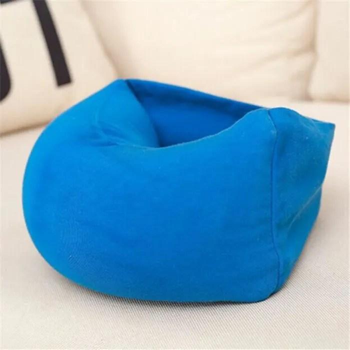 oreiller de voyage coussin de cou ultra doux oreiller tete cervical pour siege voiture tgv avion
