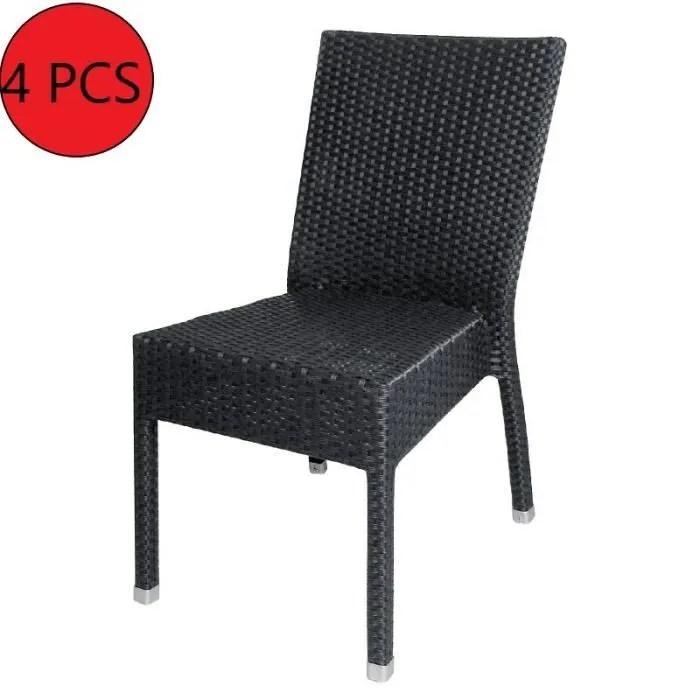 chaise rotin anthracite 4 unites
