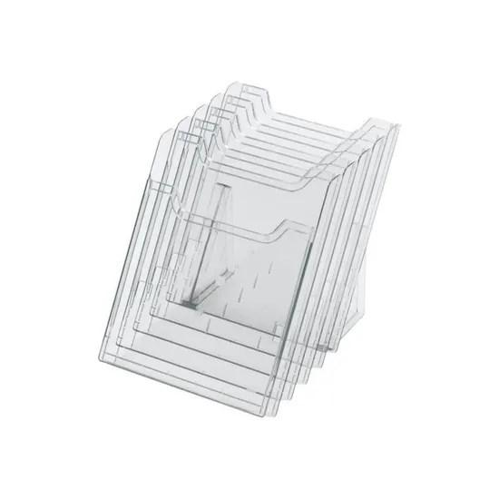 exacompta porte document bureau 5 pochettes pour a4 cristal