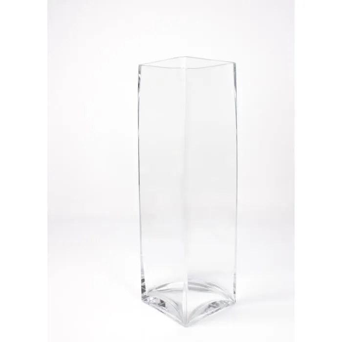 grand vase carre jack en verre transparent 14x14 cm 49 cm vase en verre transparent vase design inna glas