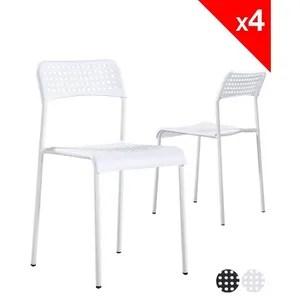 chaise kayelles chaises empilables echo lot de 4 chaise