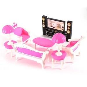 salon de jardin 7 pcs deluxe barbie poupees salon meubles sofe c