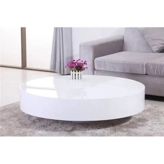 Table Basse Ronde Laque BELIUS Blanc Achat Vente