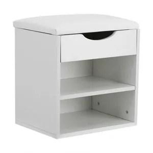 meuble a chaussures banc de rangement pour chaussures blanc 40 5 x