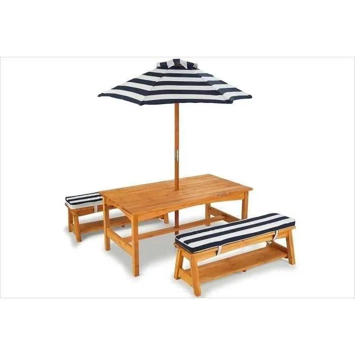 Elegant Kidkraft Table Et Bancs Dextrieur Avec Parasol