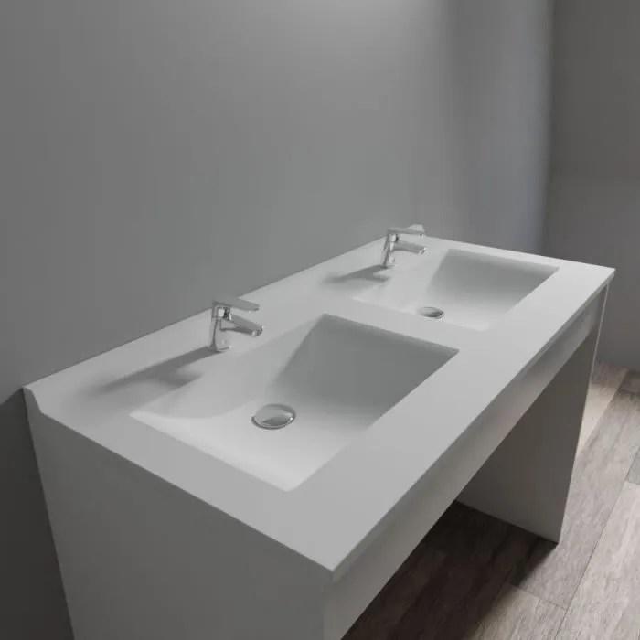 creazur plan double vasque blanc 120cm