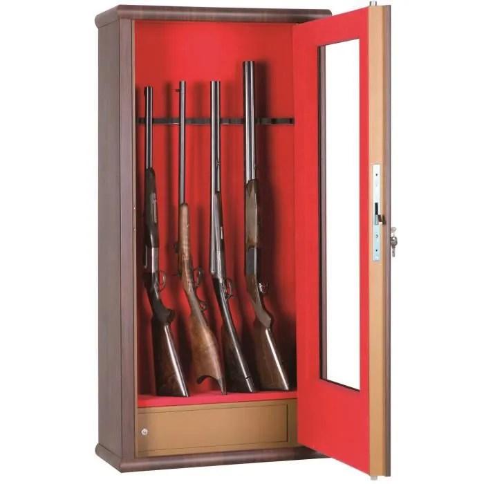 Armoire Fusils 12 Armes Avec Lunette Et Compartiment