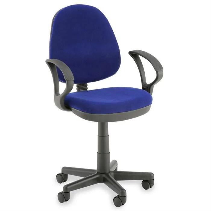 Chaise De Bureau JENS Bleu Avec Accoudoirs Achat Vente
