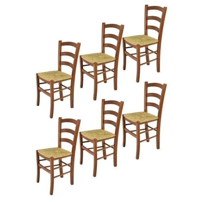 chaise bois paille