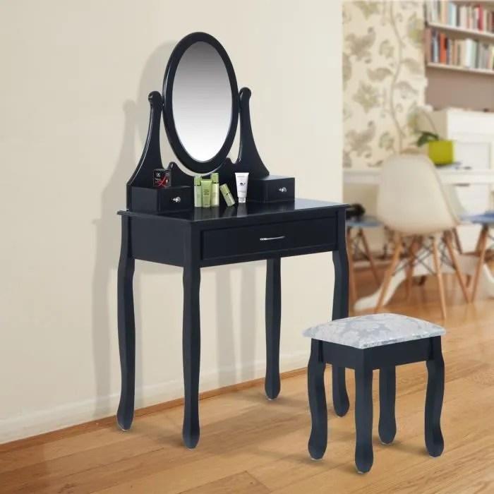 Coiffeuse Tablecommode De Maquillage Avec Miroir Et 3