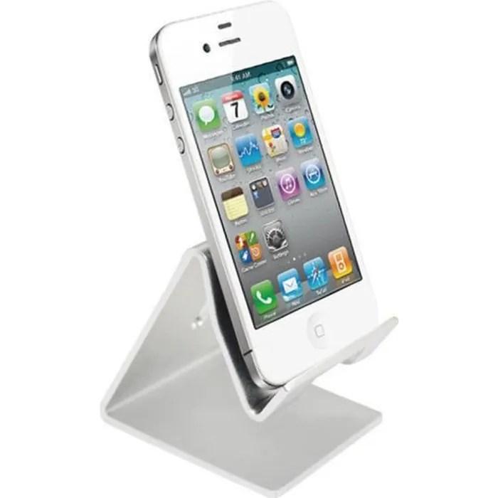 support universel de support de bureau de telephone portable pour la tablette ipad iphone coleur argent