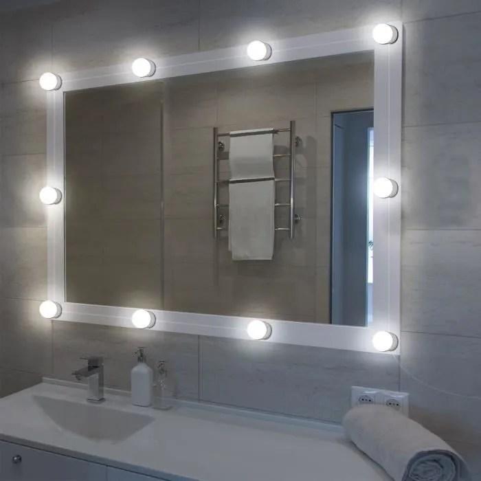hollywood miroir maquillage kit de lumieres miroir led avec ampoules dimmableld1488