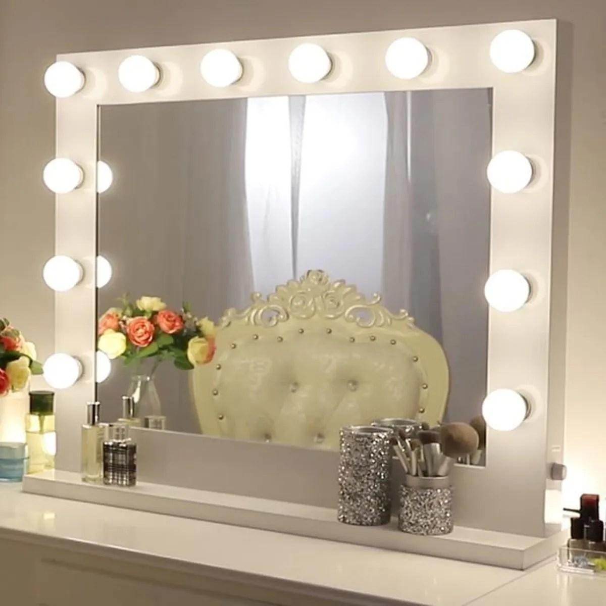 miroir miroir vanite de maquillage de hollywood avec plus