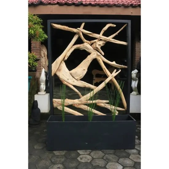 affordable grand paravent en branches de bois flott avec son bac fleu achat vente paravent cdiscount with paravent bois flott