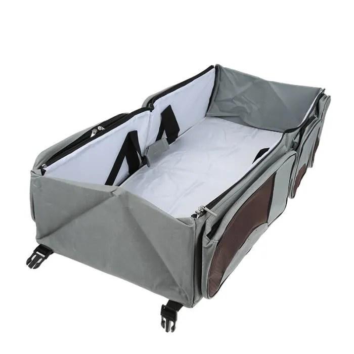 lit de voyage couffin sac gris simple bed sac a langer de voyage 3 en 1 multifonctionnel pour bebes de voyage