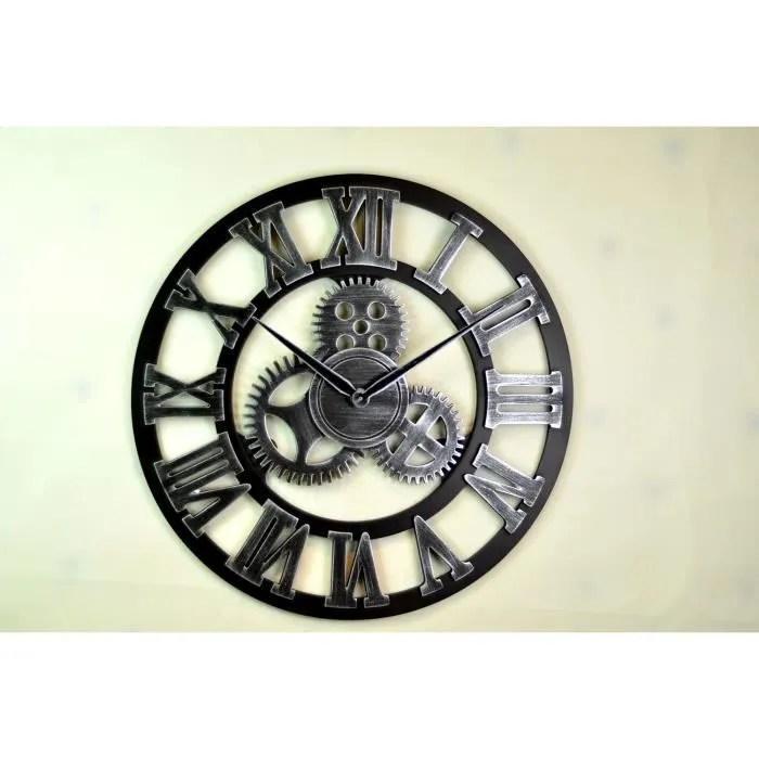 fait a la main retro horloge murale surdimensionnee art de luxe decoratif rustique grande vitesse 3d vintage wooden grande horloge