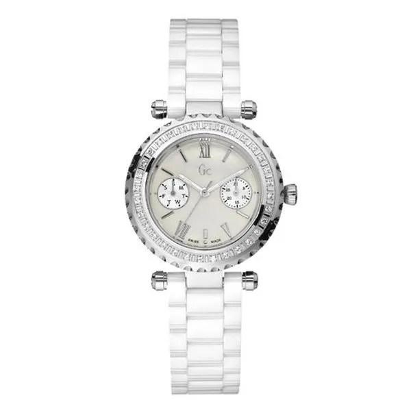 Montre Femme Guess Collection Gris Blanc M 233 Tal Chic