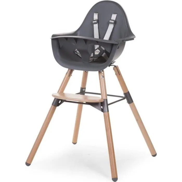 childwood chaise haute bebe 2 en 1 evolu 2 anthracite chevochna