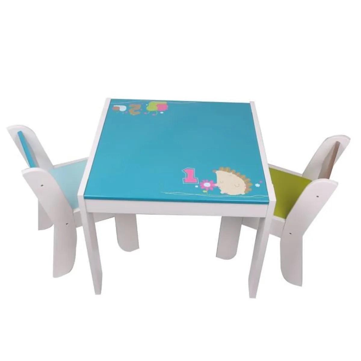 Labebe Table Et 2 Chaises Enfant Motif De Hrisson Hibou