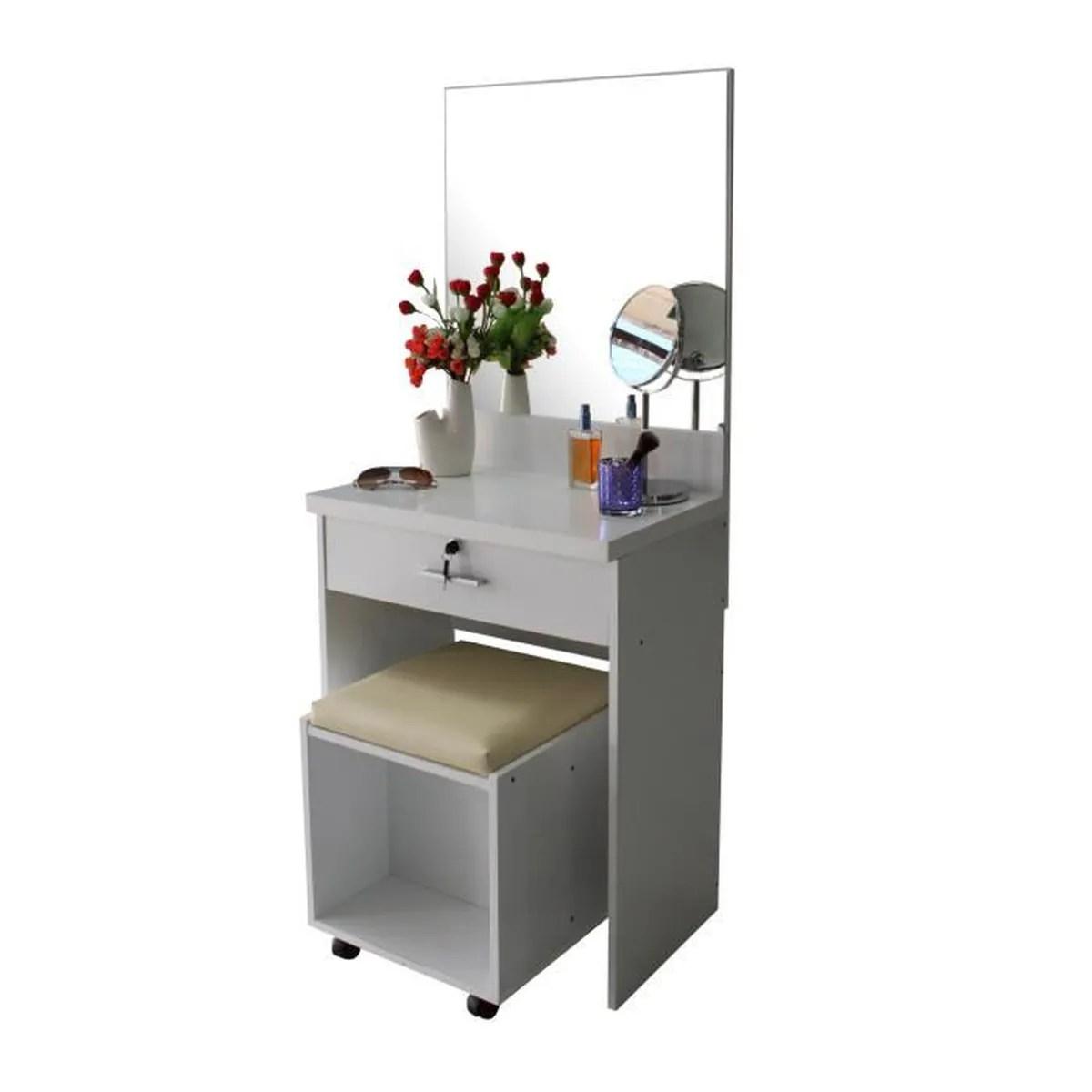 meuble sous evier vanity coiffeuse avec miroir verrouillage des tou