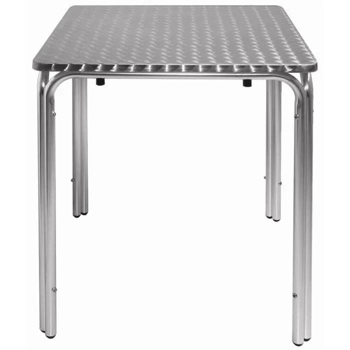 mange debout table bistro carree en acier inoxydable 60 cm