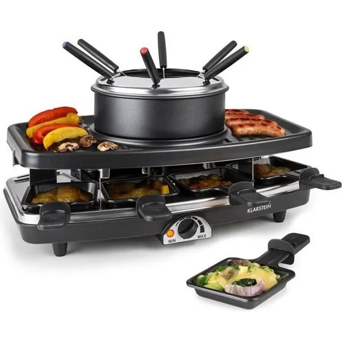 Klarstein Entrecote Appareil Raclette Avec Plaque De