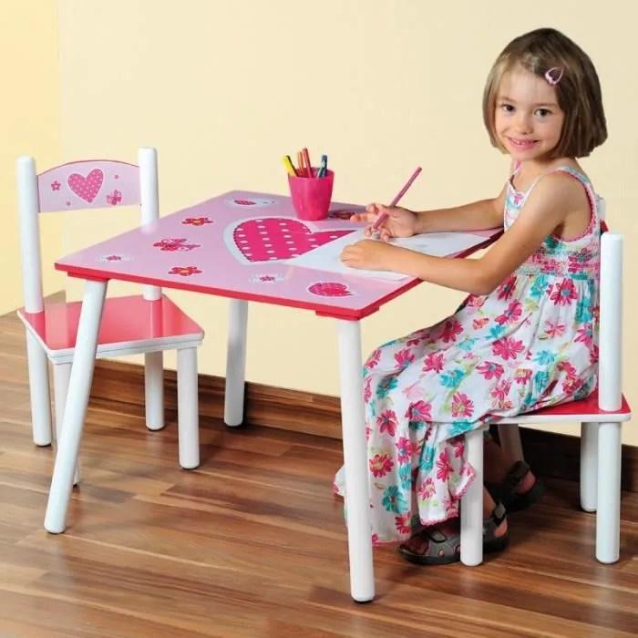 Table Et Deux Chaises Pour Chambre Denfants Achat