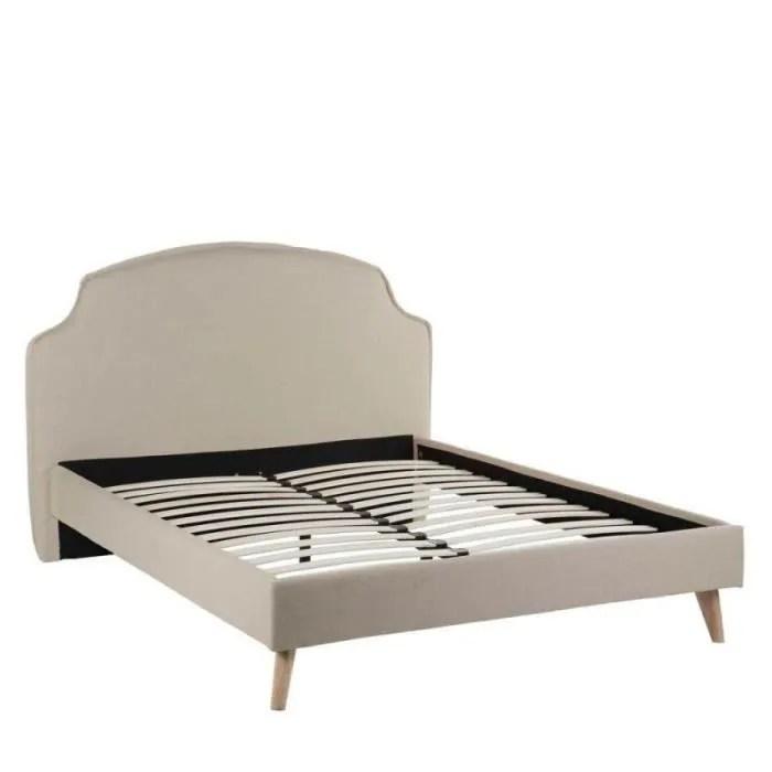 structure de lit cadre de lit tete de lit 150 200 creme queen