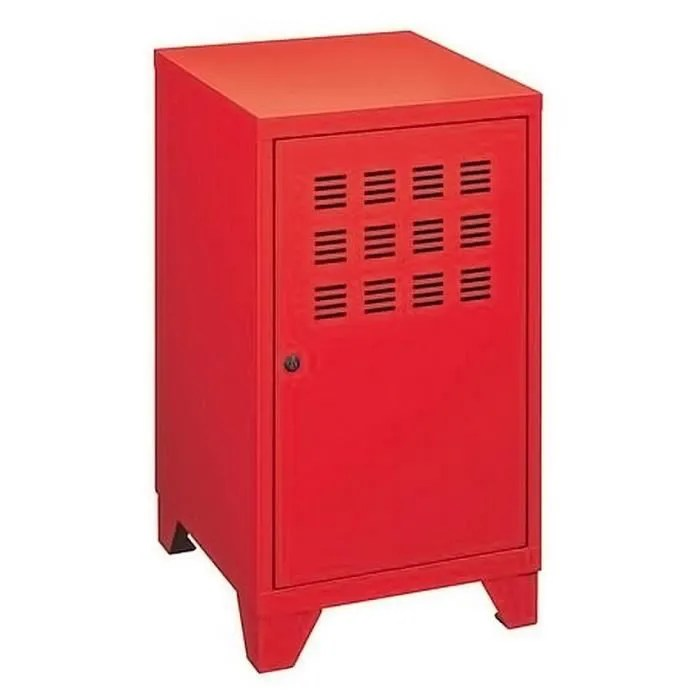 Rangement PIERRE HENRY 1 Porte Rouge 40x40x75cm Achat