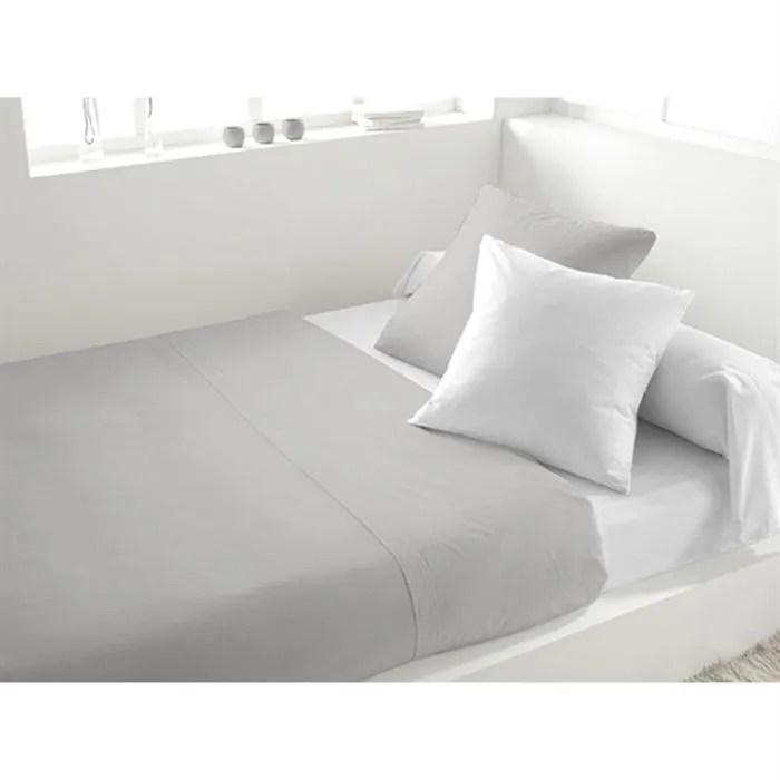 Mobilier Table Parure De Lit Gris Et Blanc