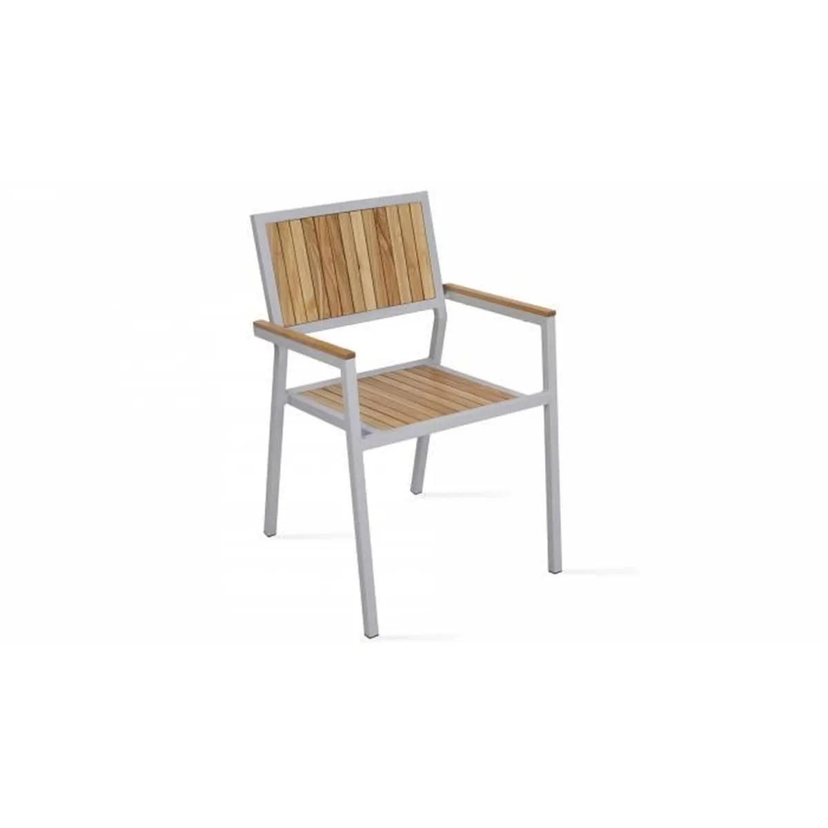 Chaise De Jardin Bois Et Aluminium