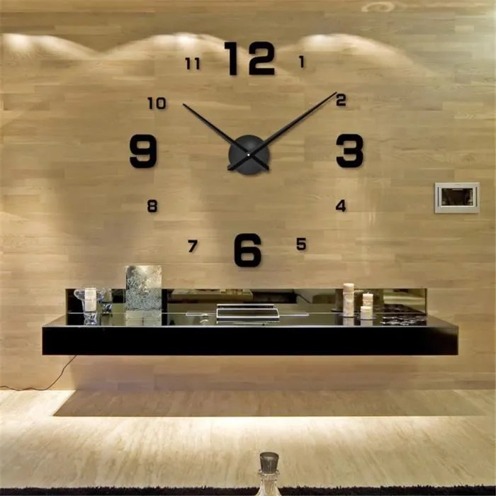 art luxury grand nombre horloge murale 3d home decor modern design horloge murale trendy 3d moderne decoration