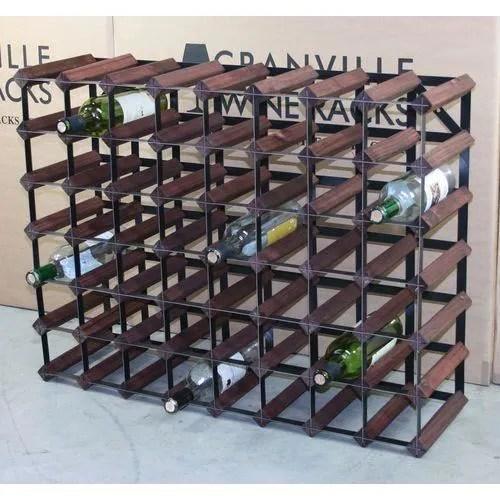 56 bouteille wine racks dimensions approximatives de casier a vin metric w81cm h 62cm metal finish noir acier pour bois che