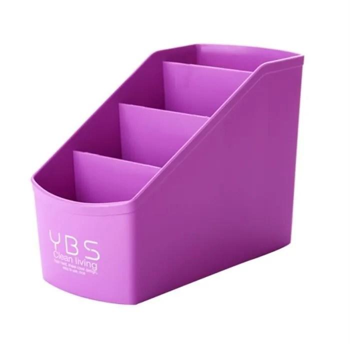 organisateur de rangement en plastique violet pour bureau caddy telecommande pour stylo crayon porte maquillage